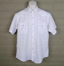 Wrangler Cowboy Cut Reg. Fit X-Long Tails Men's 16 1/2 Button Up Shirt V... - $18.52