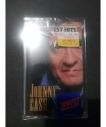 New Sealed Johnny Cash's 16 Biggest Hits Greatest Cassette Walk Line Rin... - $14.84