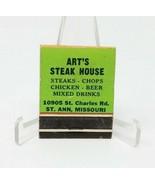 Art's Steak House Matchbook Unstruck HTF - $7.42