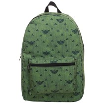 The Legend Of Zelda Triforce Pattern Backpack Bag Green - $46.98