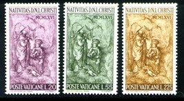 1966 Holy Family Set of 3 Vatican City Postage Stamps Catalog Number 445-47 MNH