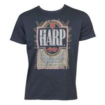 Harp Distressed Label Tee Shirt Blue - $26.98+