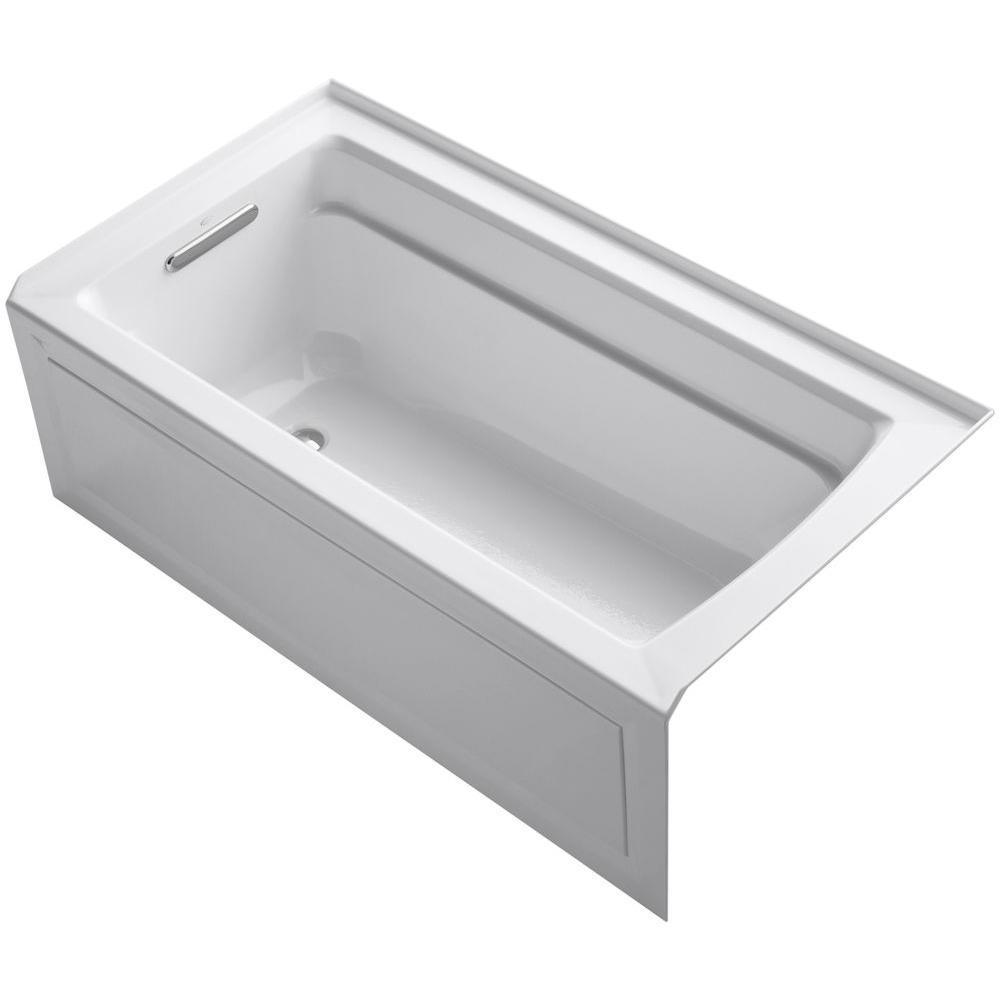 KOHLER Alcove Bathtub 5 ft. Slotted Overflow Left-Hand Drain Acrylic White - $827.93