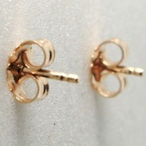 Silver Earrings 925 Laminated in Rose Gold le Favole with Fawn Puppy image 2