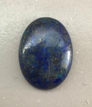 Blue Lapis Lazuli Cab 40x30mm, B Grade, deep bright denim blue, 30x40mm cabochon image 1