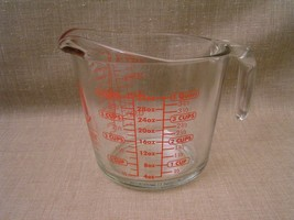 Large Anchor-Hocking #699 4-Cup 32 Oz. Microwave-Safe Glass Measuring Cup - Mint - $12.19
