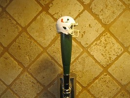 Miami Hurricanes Kegerator Beer Tap Handle Football Helmet Green Bar NCAA - $36.58