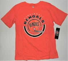 NFL Team Apparel Boys Cincinnati Bengals T-Shirt Football Size Medium 10-12 NWT - $9.41