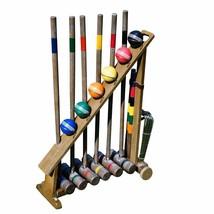 Vintage Croquet Set 2-6 Players Portable Carry Stand Storage Fun & Leisu... - $285.11