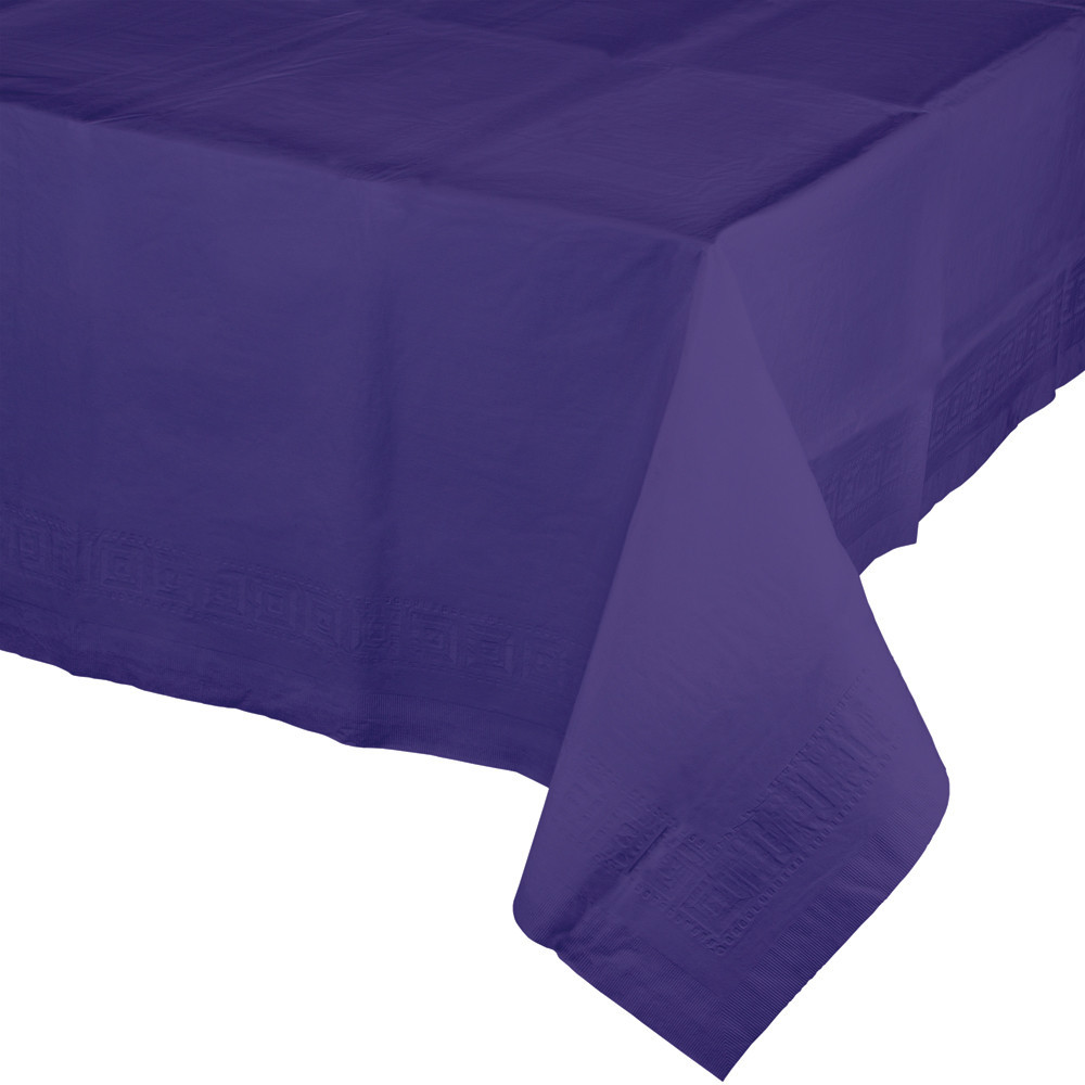 54 x 108 Tissue/Poly Tablecover Purple/Case of 6
