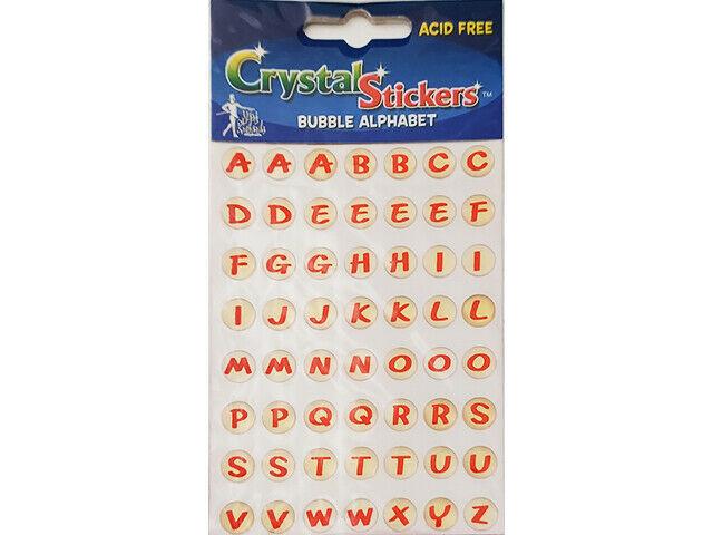 Mark Richards Crystal Bubble Alphabet Stickers, Uppercase #1172