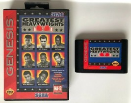 ☆ Greatest Heavyweights (Sega Genesis 1994) AUTHENTIC Game Cart Tested Works ☆ - $11.99