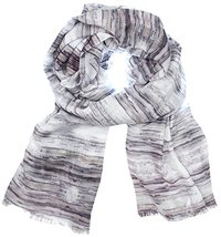 Echo Design Women's Grey Kaleidoscope Stripe Scarf Wrap - €38,04 EUR