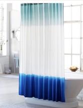 NWT Threshold Dip Dye Shower Curtain Nautical Blue Hippie Boho Tie Dye - $17.81