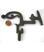 Cast Iron Lamp Bracket Swivel Victorian Era England 1890s Antique Hardwa... - $20.00