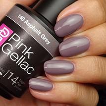 Pink Gellac #140 Asphalt Grey Soak-Off UV / LED Gel Polish (15ml / 0.5 f... - $15.22