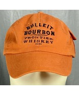 Bulleit Bourbon Frontier Whiskey Embroidered Hat Cap Adjustable Velcro P... - $29.69