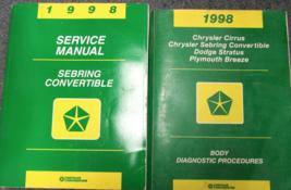 1998 Chrysler Sebring Convertible Service Shop Repair Manual Set W Body ... - $4.94
