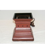 McCALLS FLEUR DE LIS REDDISH BROWN WAX WARMER Without LIGHT GUC    - $25.99