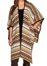 Lisa Rinna Collection Jacquard Sweater Shawl 2X/3X - $10.88