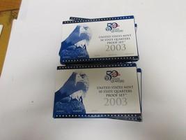 2003 U.S.A. Mint  , 50 State Quarter Proof Set , Lot of 6 Sets - $45.00
