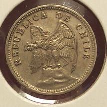 KM# 165 Chile 1936 5 Centavos AU #0931 - $1.99