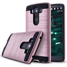 Tough Rugged Dual Layer Hybrid Armor Protective Case for LG V10 - Rose g... - $100,87 MXN