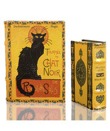 Steinlen LE CHAT NOIR Black Cat Nesting Book Boxes Secret Storage Art Ho... - $45.53