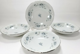 Johann Haviland Blue Garland Berry Bowls Set of 4 White Blue Floral Bavaria - $11.88