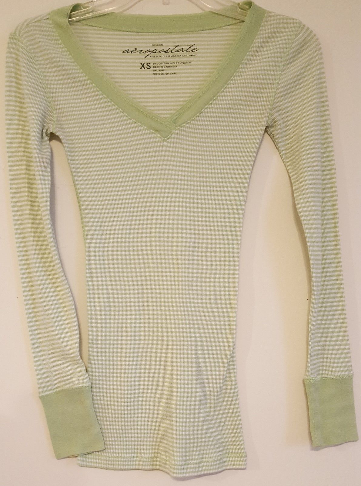 Primary image for AEROPOSTALE WPL 8046 – Junior's Long Sleeve Thermal Jersey Shirt – Size:  XS