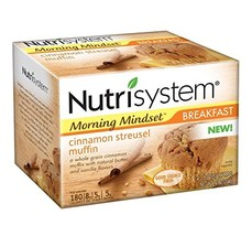 Nutrisystem Breakfast Muffins Cinnamon Streusel 1 Box 4Muffins - $22.22