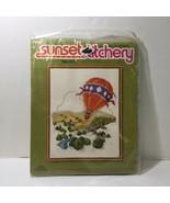 """Balloon Crewel Embroidery Kit Sunset Stitchery 14"""" x 18"""" - $19.34"""