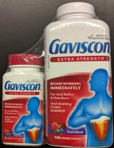 Gaviscon Extra Strength 120 Pack +BONUS 25 Tablet Travel Pack Fresh From... - $29.65