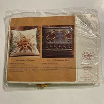 Vintage 1982 Creative Circle Shades of Autumn Pillow Cover Stitchery Kit... - $19.99