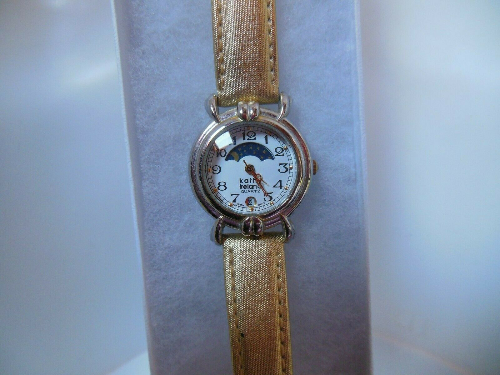 Primary image for Kathy Ireland Women's Watch W/Gold Metallic Genuine Leather Hadley-Roma Band