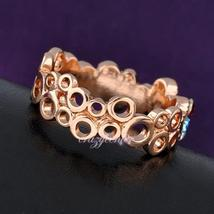 multi color Swarovski crystal cocktail ring hot sale hollow cirle ring image 4