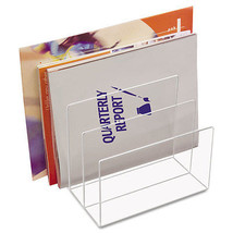 Kantek Clear Acrylic Desk File Three Sections 8 x 6 1/2 x 7 1/2 Clear AD45 - $48.99