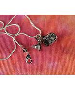 """3D Beer Stein Necklace Movable Lid Charm Pendant (24"""") - $40.58"""