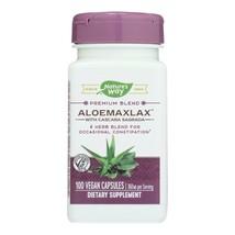 Nature's Way - AloeMaxLax with Cascara Sagrada - 100 Vegetarian Capsules - $13.99