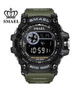 SMAEL Men's outdoor sports, digital, military style, 50m waterproof watc... - $19.99