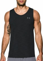Under Armour Mens UA HeatGear Training Tank Top 1320546 Black Multi Size... - $23.84