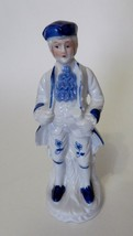 Ceramic George Washington Figurine Blue Hat Blue Shoes On Tree Vintage W... - $9.78