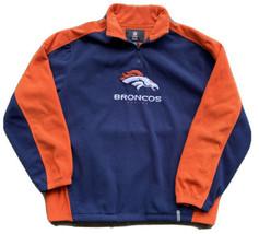 Denver Broncos Men's Reebok Official NFL Team Fleece Pullover Jacket Siz... - $17.82