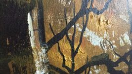 "Large 61""x 49"" Original Walter Sherwood Landscape Oil Painting Signed Artist Art image 5"