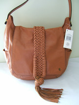 NWT Elliott Lucca Gorgeous Braided Leather Cognac Brown SABINE Shoulder ... - $148.00