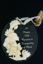 Keepsake Ornament by Roman Glass Happy Life Cansists in Tranquility of Mind - $11.84