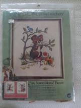 Vintage Paragon SUE BONNET MOUSE Picture Crewel Embroidery SEALED Kit #0230 - $14.85