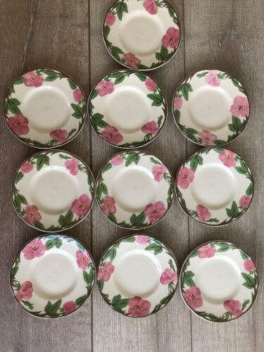 "Set 10 Franciscan Desert Rose Bread Plate 6"" New Modern Stamp Replacement"