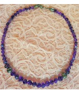 ANTIQUE VICTORIAN AMETHYST NECKLACE STERLING SILVER CLASP - $584.10