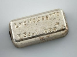 Lmc .999 + Fein Silber 10.499 Troy Oz. Loaf Verbindung Schöne Vintage Pour - $321.73